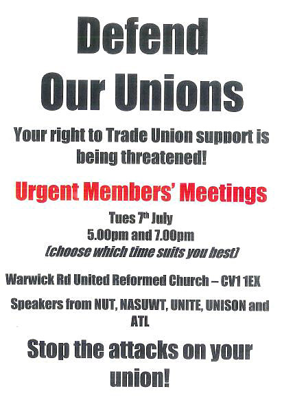 DEFEND OUR UNIONS