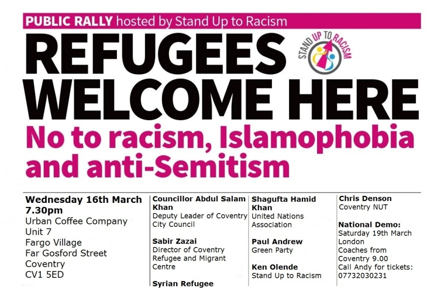 Refugees Welcome Here Rally